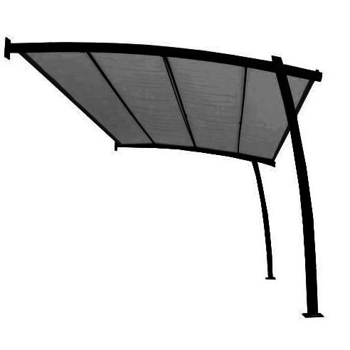 Tonnelle adossée Bali 4 x 2.8 m en acier époxy - Proloisirs
