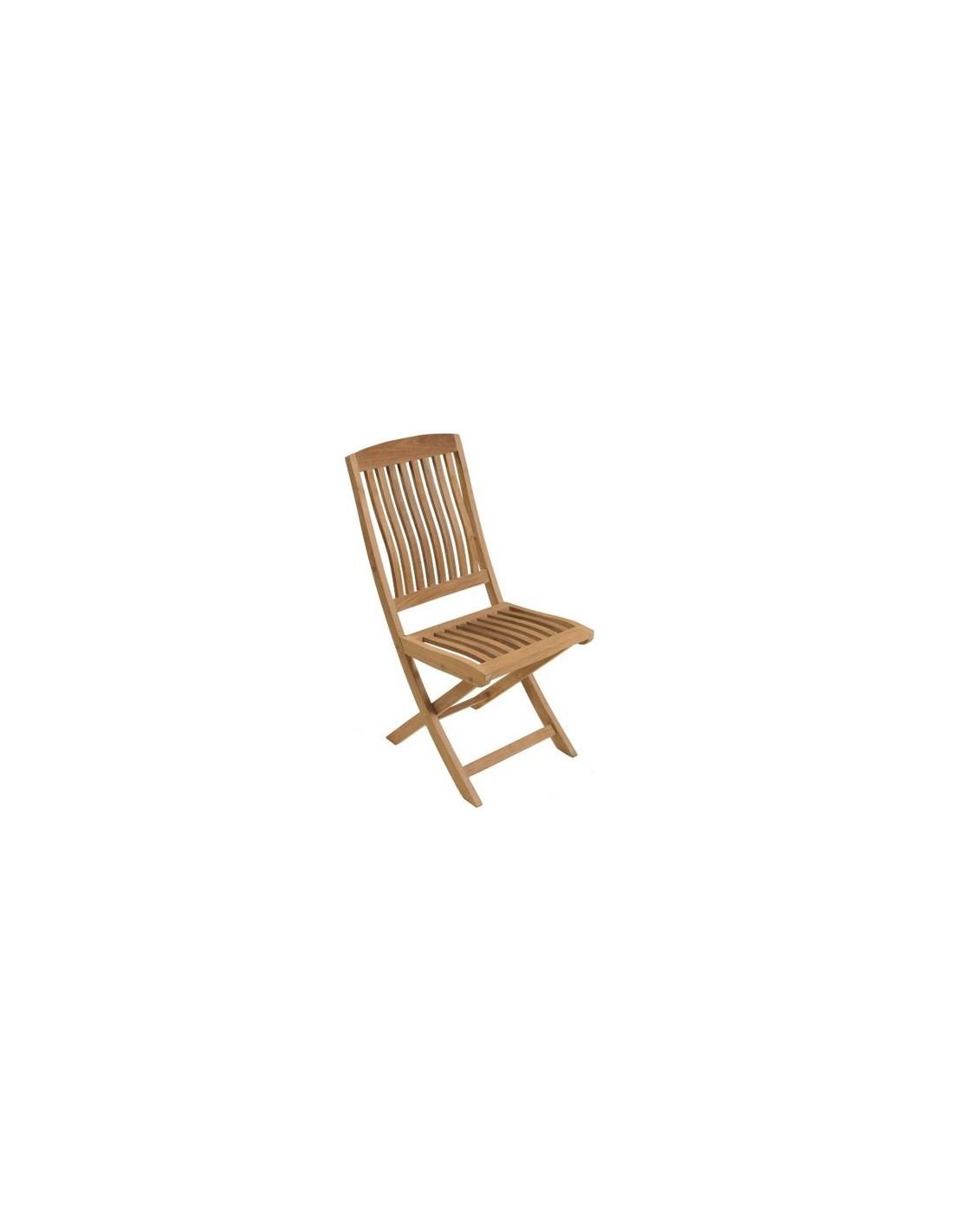 chaise pliante rias en bois de teck proloisirs. Black Bedroom Furniture Sets. Home Design Ideas