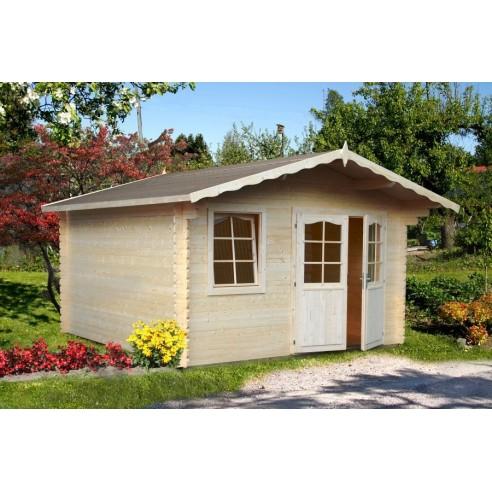 abri de jardin emma 10 8 m bois massif 34 mm. Black Bedroom Furniture Sets. Home Design Ideas