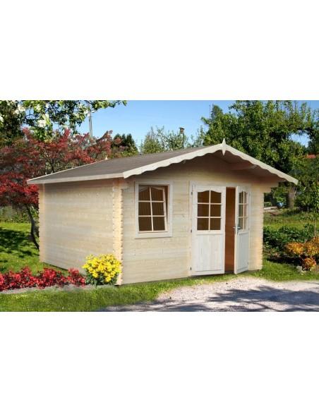 Abri de jardin Emma 10.8 m² - Bois massif 34 mm