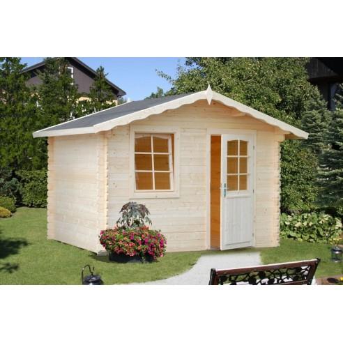 Abri de jardin Emma 4.8 m² en bois massif 28 mm