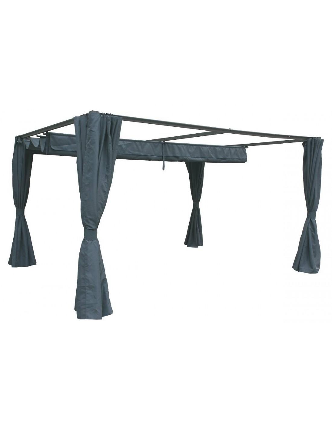 tonnelle de jardin palmeira ardoise en aluminium 3 x 4 m hesp ride. Black Bedroom Furniture Sets. Home Design Ideas