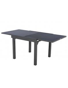 Table de jardin Piazza Graphite extensible 8 places - Aluminium - Hespéride