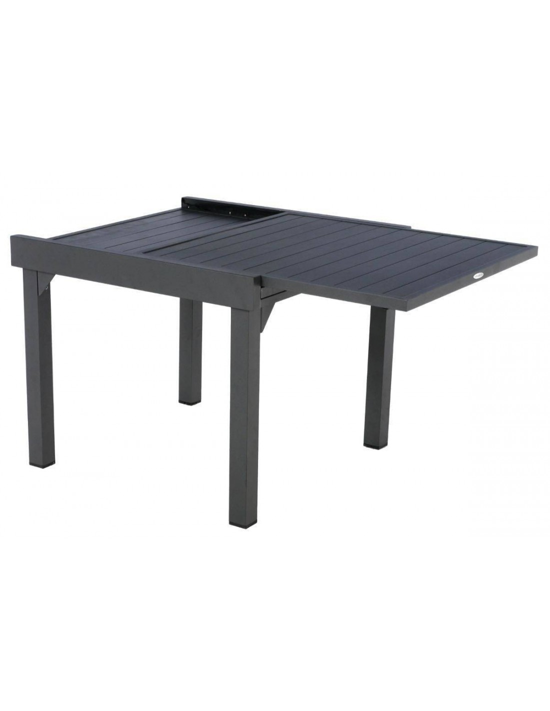 table piazza extensible aluminium 90 180cm graphite ou taupe hesp ride. Black Bedroom Furniture Sets. Home Design Ideas