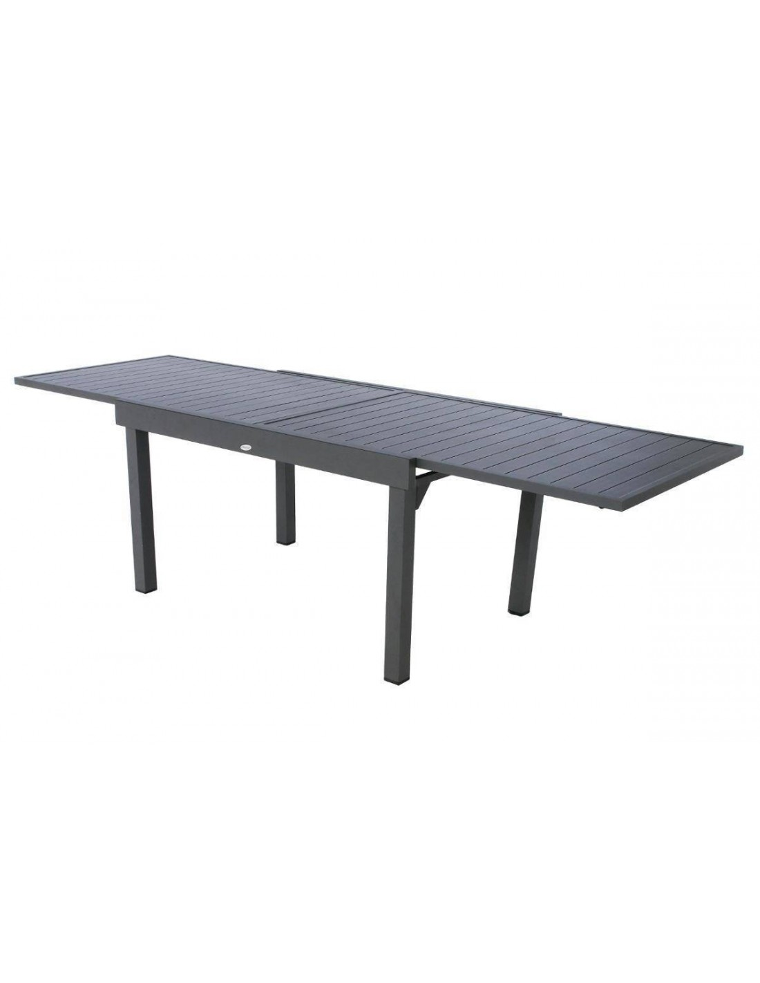 table piazza extensible 135 270 cm 10 personnes aluminium hesp ride. Black Bedroom Furniture Sets. Home Design Ideas