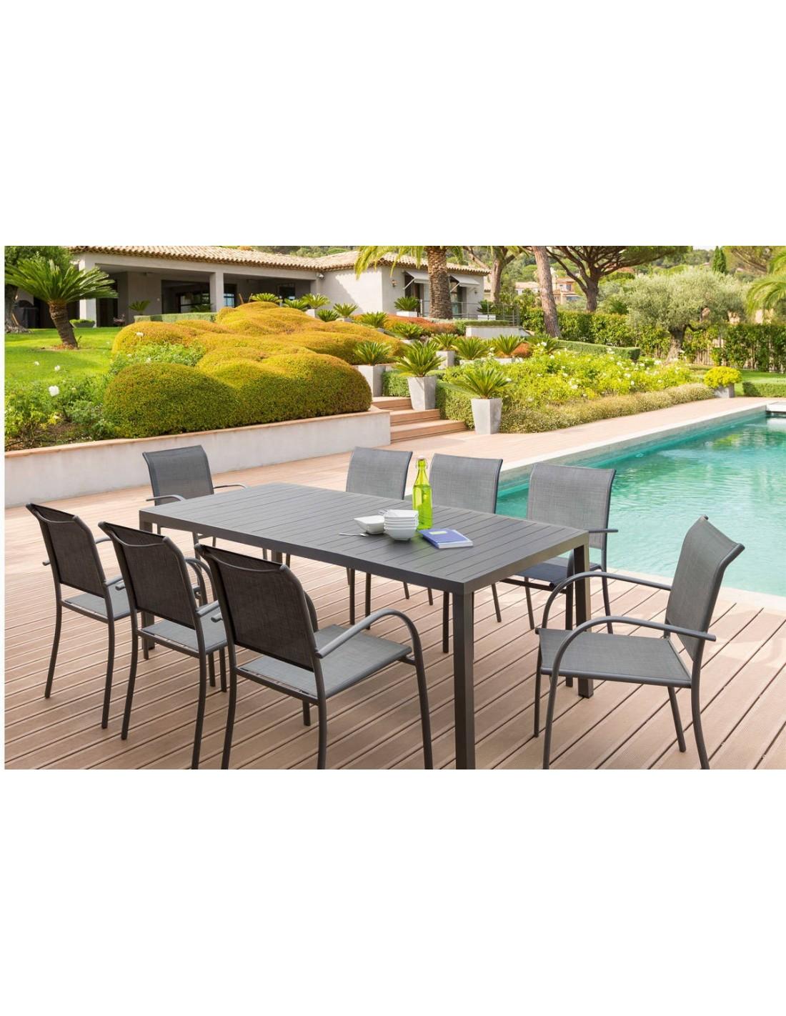 Table Piazza Fixe 210 Cm En Aluminium Coloris Au Choix Hesperide