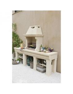barbecue au charbon de bois en pierre serres et abris. Black Bedroom Furniture Sets. Home Design Ideas
