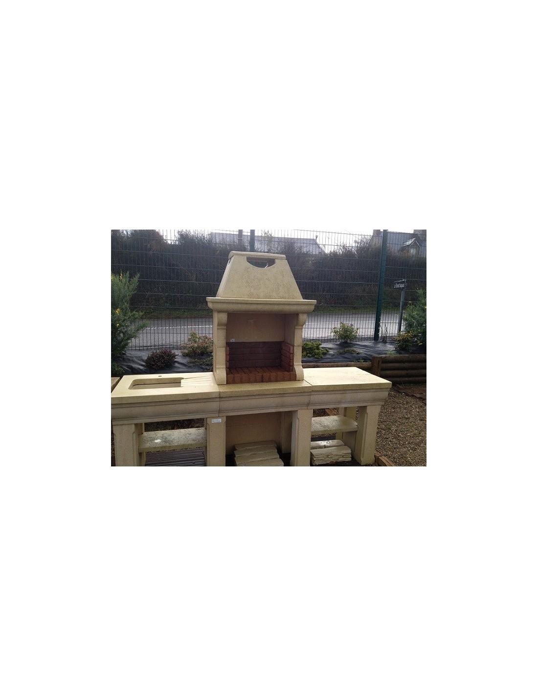 barbecue touraine en pierre charbon de bois. Black Bedroom Furniture Sets. Home Design Ideas