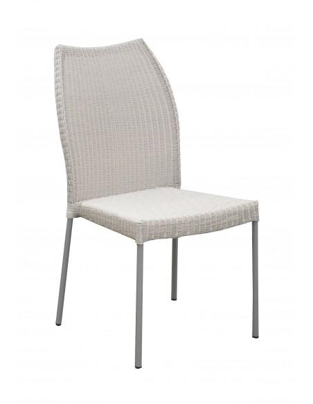 Chaise de jardin Angelica en acier galvanisé et résine blanche - Océo