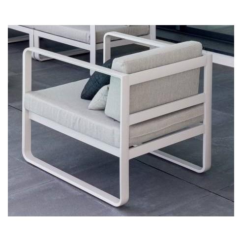 Fauteuil de salon Absolu en aluminium coloris au choix - Hespéride