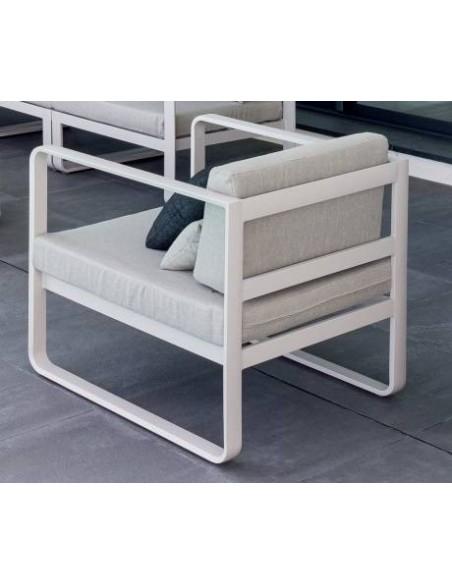 Fauteuil de salon Absolu en aluminium - Hespéride