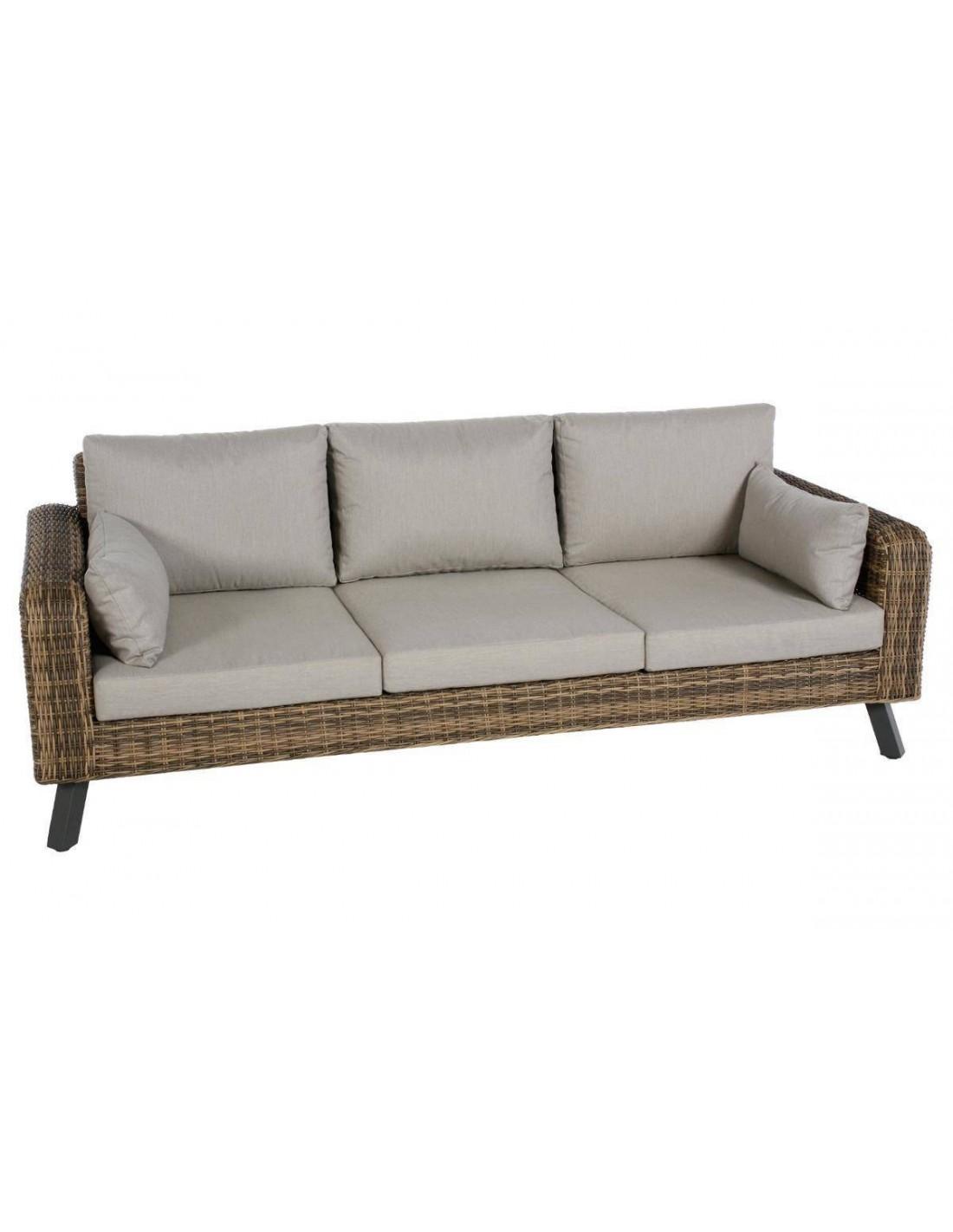 salon de jardin aura naturae aluminium et r sine tress e. Black Bedroom Furniture Sets. Home Design Ideas
