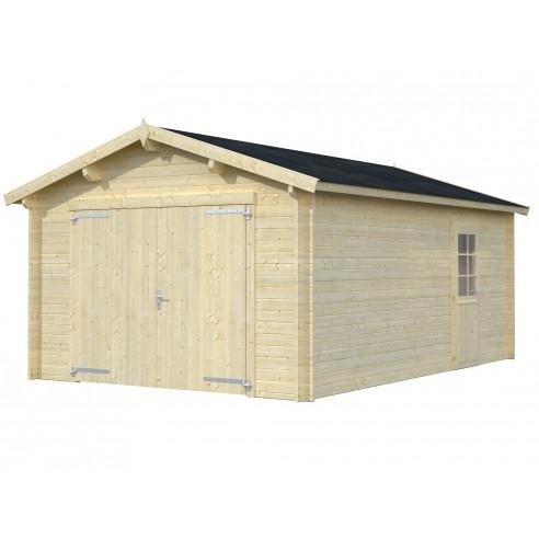 Garage Anvers 19.4 m² au choix en bois massif  44 mm