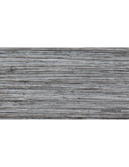 Table de jardin carrée 78x78 cm Latino aluminium brush - Proloisirs