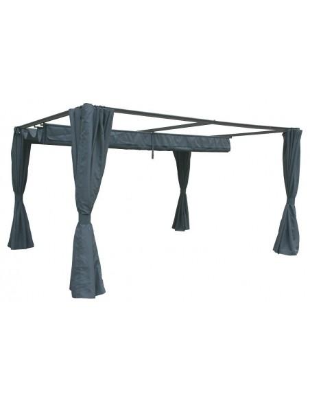 Rideaux pour Tonnelle palmeira Ardoise 3 x 3 m - Hespéride
