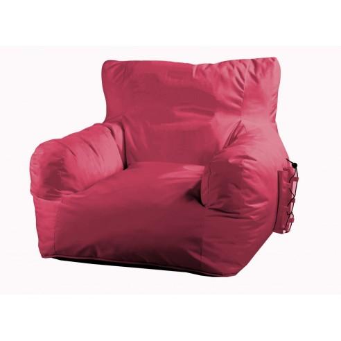 Fauteuil pouf Malibu pink Rose - Proloisirs