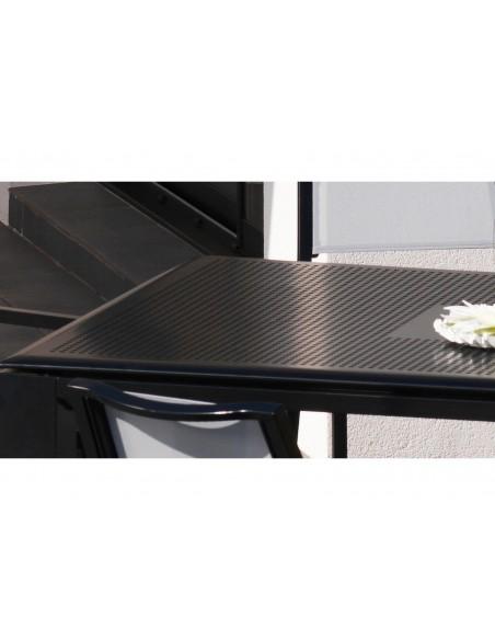 Table Florence Black 240 x 100 x74 cm 8-10 personnes - Proloisirs