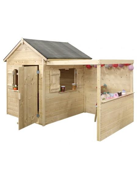 Maisonnette Alpaga en bois avec plancher