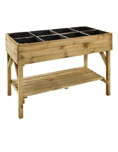 Carré potager Gariguette en bois 60x120xH87 cm