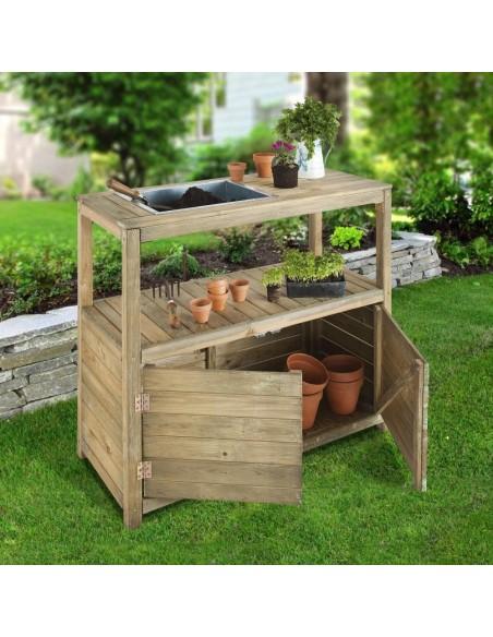 Table de préparation pour jardiner Jardipolys