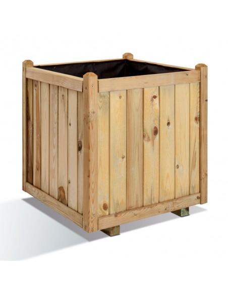 Bac carré Vendôme en bois traité de 60x60 cm