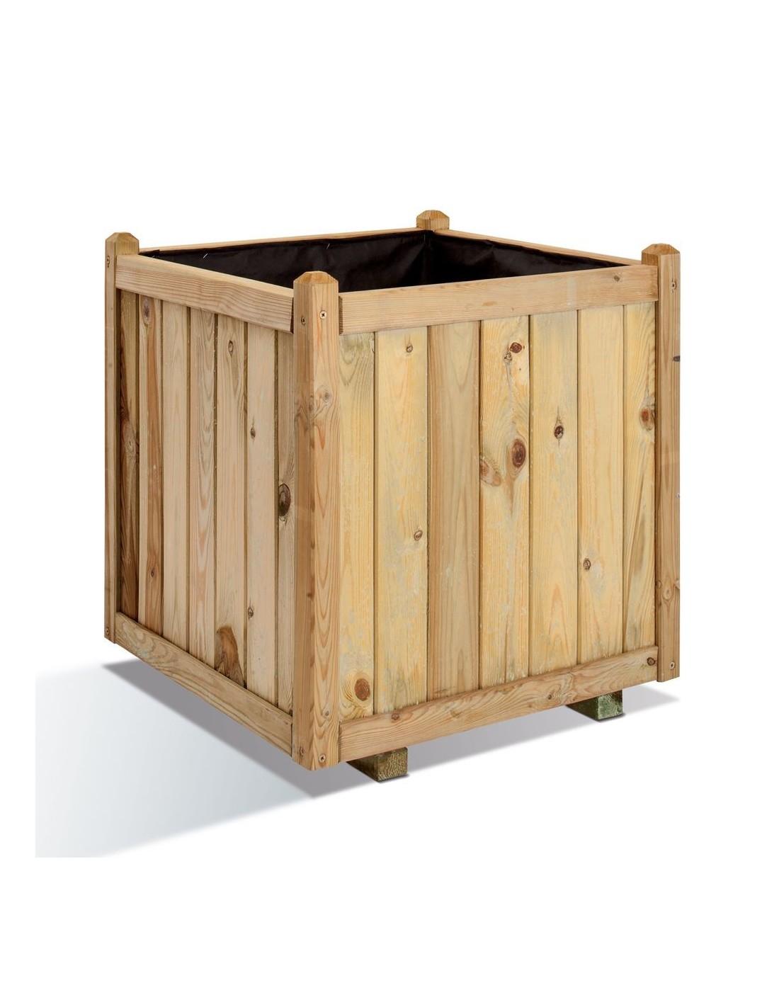 Bac carr vend me bois trait de 60x60 cm - Bac carre en bois jardin ...
