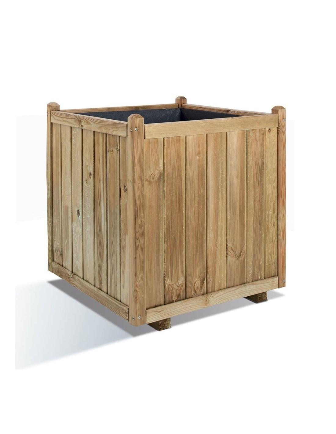 bac carr vend me bois trait de 60x60 cm. Black Bedroom Furniture Sets. Home Design Ideas