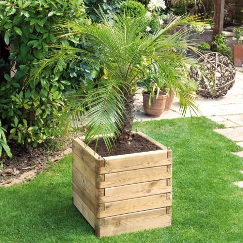 Bac Olea carré 50x50 cm en bois traité autoclave