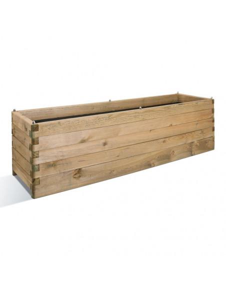 Jardinière Olea 50x180 cm en bois traité autoclave