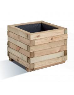 Bac Fresia carré 40x40 cm - Bois traité autoclave