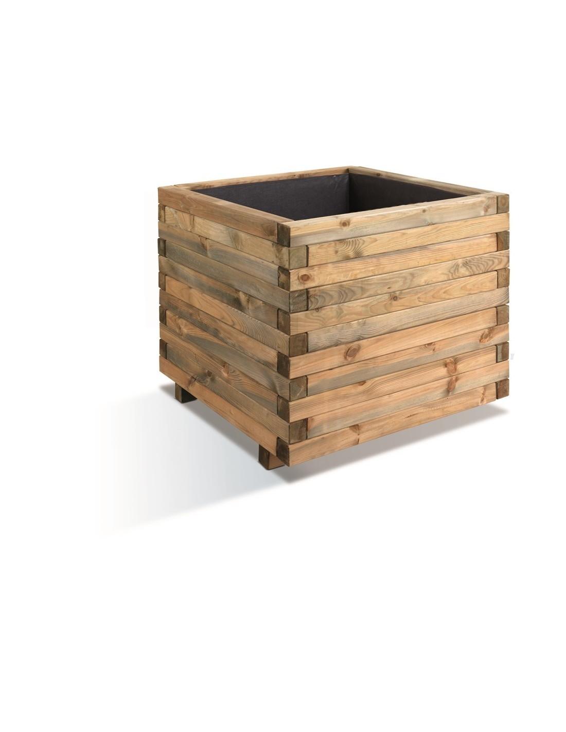 bac carr stockholm bois trait de 100x100 cm. Black Bedroom Furniture Sets. Home Design Ideas
