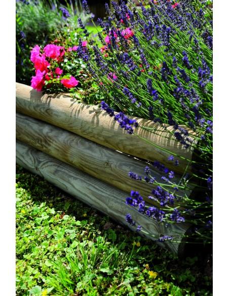 Retenue de terre droite 110x21/40 cm en bois traité autoclave