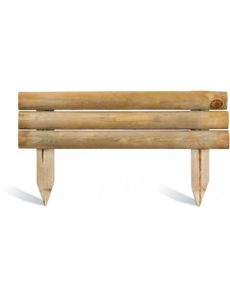 Retenue de terre droite 21/40x100 cm en bois traité autoclave