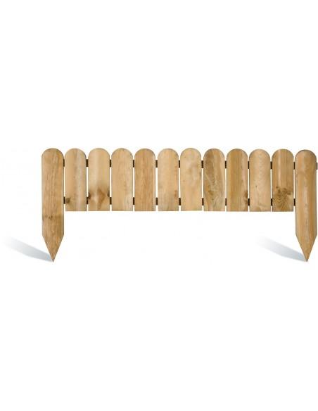 Bordure pleine 110x20/40 cm en bois traité autoclave