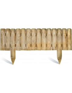 Bordure pinede 100x20/35 cm en bois traité autoclave