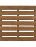 Dalle en bois teintée marron 50x50x2.8 cm