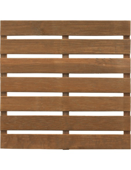 Dalle en bois teintée marron 50x50 cm au choix