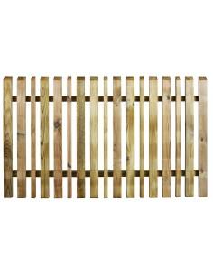 Clôture Oblik lames alternées - Bois traité 90x150 cm