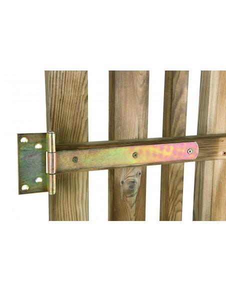 Portillon Oblik lames alternées - Bois traité 90x100 cm