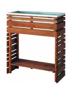 Table à rempoter lign Z - Bois teinté marron de 30x80 cm