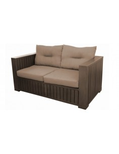 Canapé sofa Latino 2 à 3 places - Aluminium Brush brun - Proloisirs
