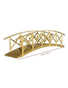 Pont Manhattan Jardipolys de 520x120 cm - Bois traité autoclave