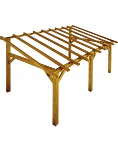 Carport monopente de 15 m² en épicéa naturel