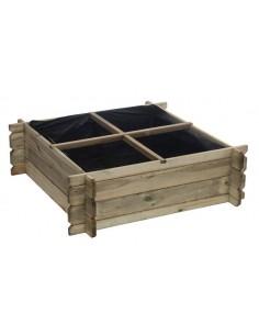 Carré potager en bois 100x100xHaut. 30 cm
