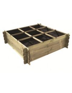 Carré potager en bois 140x140xH40 cm