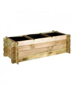 Carré potager en bois 140x60xH40 cm