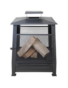 Pagode chauffe terrasse grillagée en fer - Esschert design