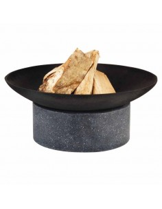 Vasque table granito anneau ou chauffe terrasse - Esschert design