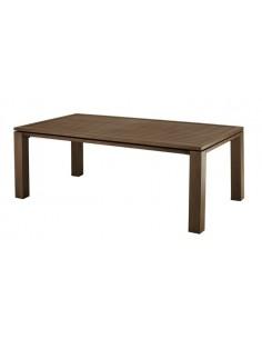 Table de jardin Fiero Brun 240 x 103 cm Aluminium brossé - Proloisirs