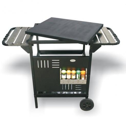 Chariot SERVANTE pour barbecues à encastrer ou à poser en acier Delta